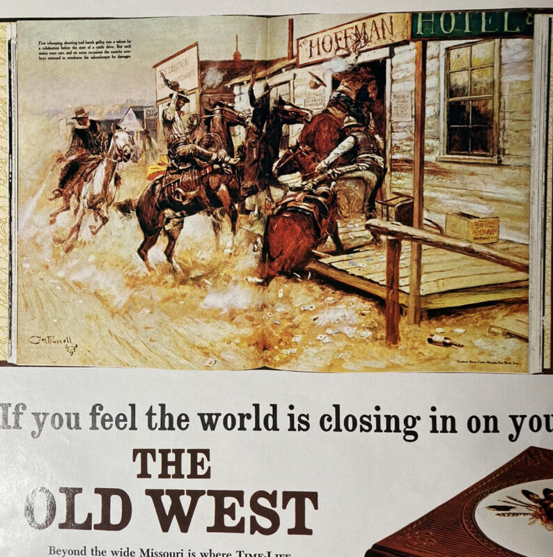 Time-Life Books - The Old West Fold-Out Adevertisement Rare Large advert 22X18