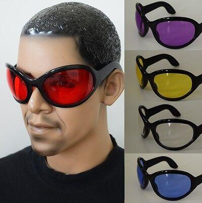 6 COLORS BIG Gothic Bug Eye Rave Industrial Wrap Style Bugeye Sunglasses BLACK](Bug Eye Sunglasses)