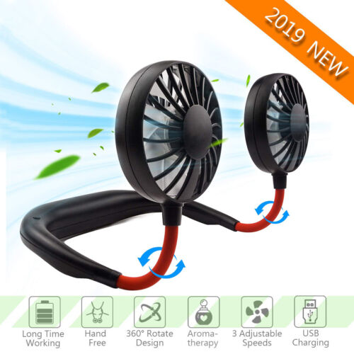Portable USB Sports Fan Rechargeable Neckband Neck Hanging D