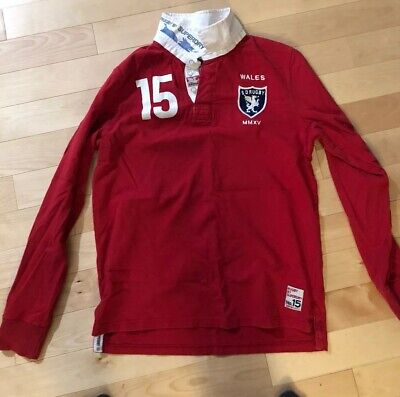 Mens Wales Rugby Shirt. Large, Superdry. Red
