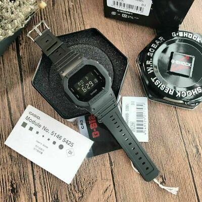 NEW Men's G-shock Watch Military Black Resin Strap Digital Watch DW5600BB-1