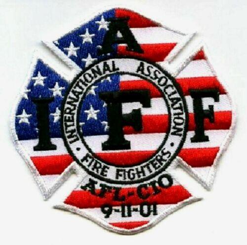 INTERNATIONAL FIRE FIGHTER ASSOCIATION IAFF AFL-CIO 9-11-01 Iron-on INSIGNIA