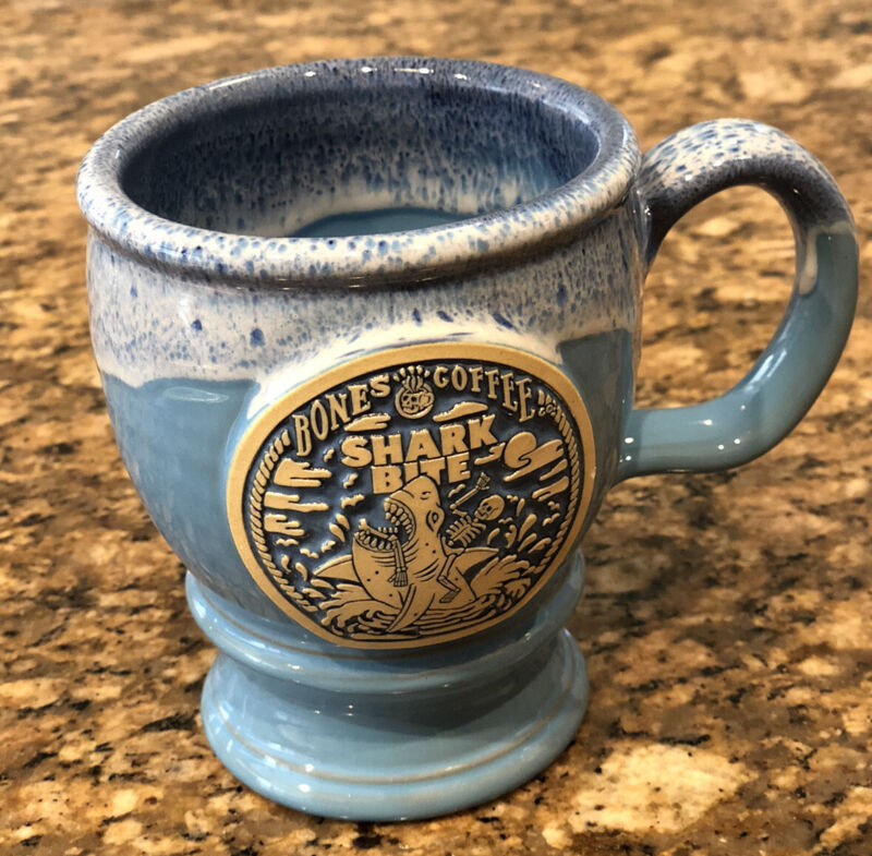 Bones Coffee Shark Bite Goblet Mug New  Limited Only 500 Made SOLD OUT last One