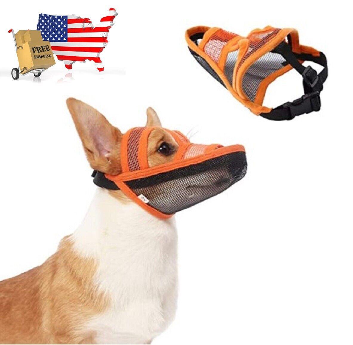 Dog Muzzle Air Mesh Breathable and Drinkable Anti-Biting Anti-Barking / Licking Dog Supplies