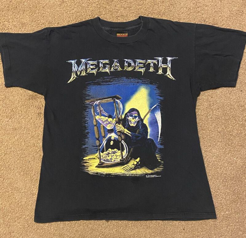 Vintage 1993 Megadeth Countdown To Extinction Tour Brockum Black T-Shirt