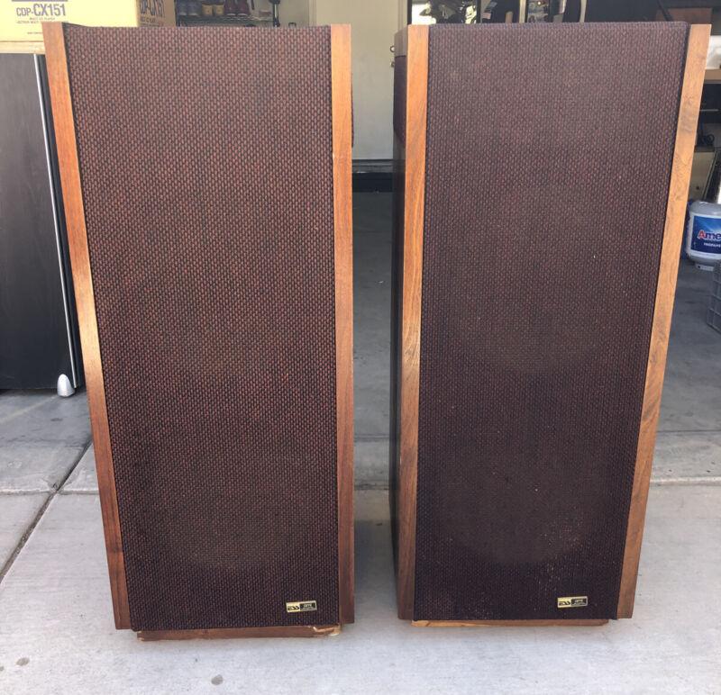 """pair of vintage ESS AMT Monitor Speakers, dual 12"""" woofers."""