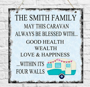 Personalised Bless this Caravan Camping Camper Plaque Sign Gift Present