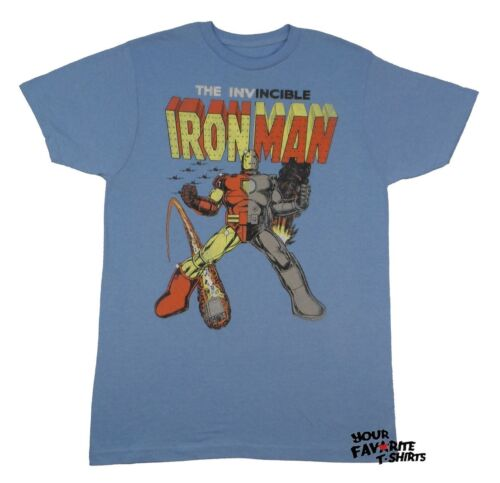 Iron Man Hawkeye Hulk Logo Stain Marvel Comics Licensed Adult T-Shirt