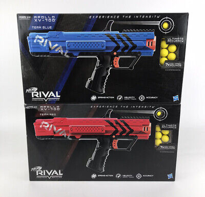 Lot 2x NERF Rival Apollo XV-700 Blaster Gun Red & Blue