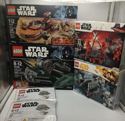 NEW/SEALED Lot (6) Lego Star Wars Sets 75173 75168 75207 75225