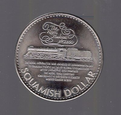 1980 Squamish BC Canada Dollar Token. Royal Hudson Train 2860