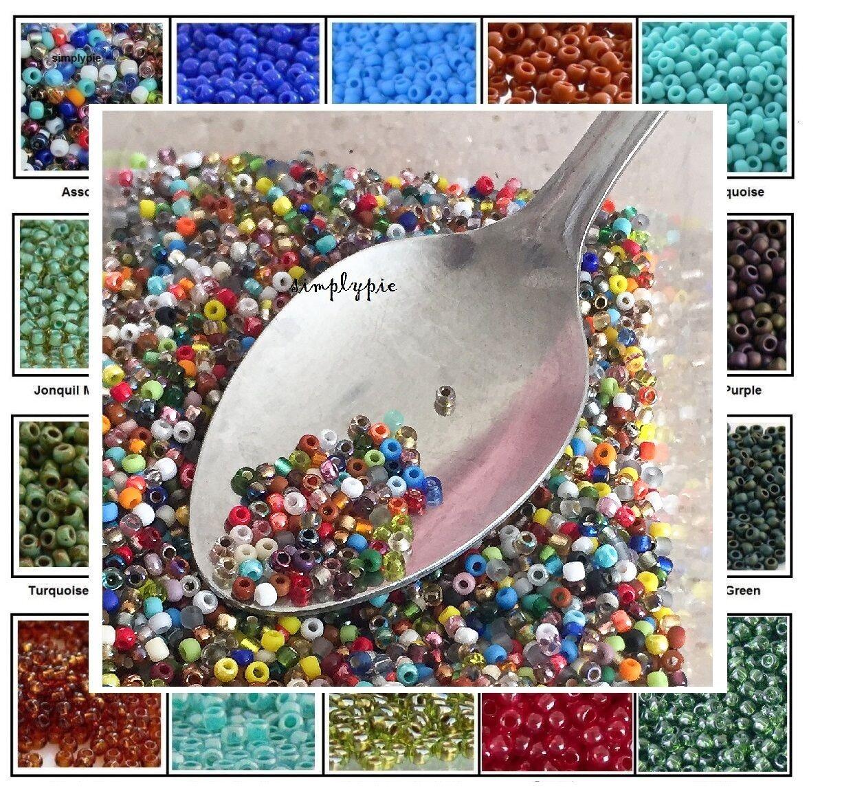Beads - TINY BEADS 11/0 Toho Glass Seed Beads 10-Grams Choose Color