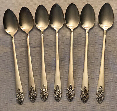 "Reed /& Barton Hammered Antique 7-1//4/"" Iced Beverage Spoon Set of Twelve"