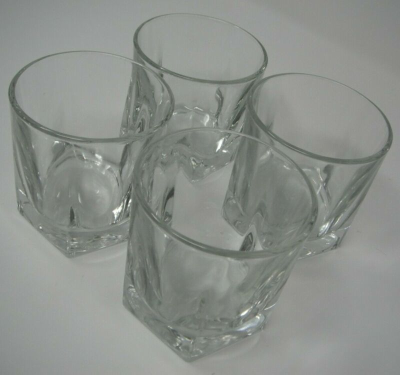 LOT of 4 LIBBEY DURATUFF 9 oz CLEAR IVERNESS - Old Fashioned Glass / Tumblers