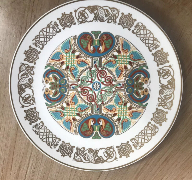 Set of *4* Rare Spode CELTIC Plates: Durrow, Durham, Lindisfarne, St Chad