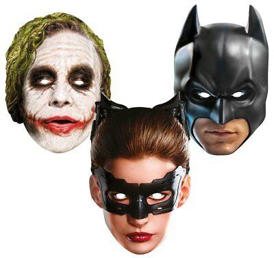 o Joker Foto Druck Maske Pappe Pappmaske Kinder + Ewachsene (Kinder Catwoman)