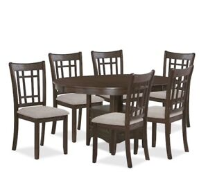 Adjustable Oval Table with 4 Chairs