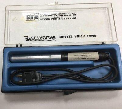 Spectroline Miniature Uv Quartz Pencil Lamp. Model 11sc-1 . Used.
