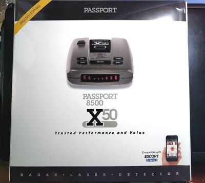 Escort Passport 8500 X50 Long-Range Radar/Laser Detectors w/Case, Red Display