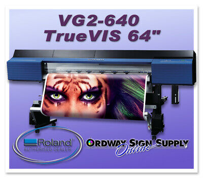 New Roland Truevis Vg2-640 64 Printer Cutter Plus 2 Year Warranty
