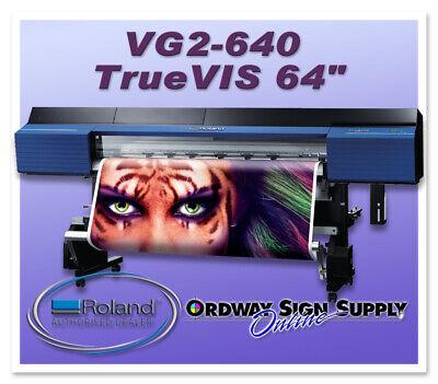 New Roland Truevis Vg2-640 64 Printer Cutter Plus 2 Year Warranty