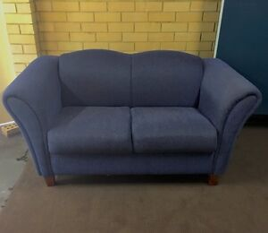 Couches - blue corduroy - 1 x 2 seater & 1 x 3 seater Willetton Canning Area Preview