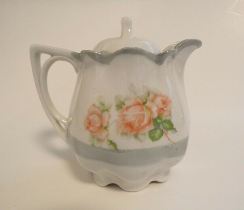 Porcelain Creamer With Lid Roses Made In Germany Vintage