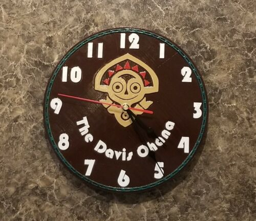 Disney Polynesian Tiki Resort Inspired Wall Clock (Disney Prop Inspired Replica)