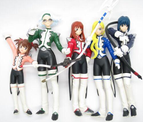 "Sakura Wars 3 (2001 Video Game & Anime) Gashapon 4"" Figure Collection Set Taisen"