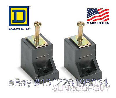 Square D Qohomeline Grounding Bar Insulator Kit 2pk Pkgtab - New