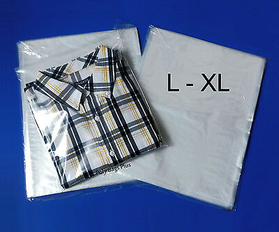 1000 12x16 Clear Poly Bags Large Xl Shirt 1mil Plastic Flat Open Top Baggies