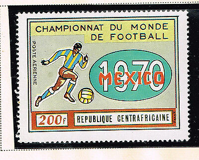 Central African Republic Soccer Mexico World Cup stamp 1970 MNH