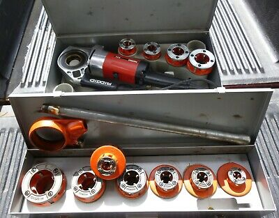Ridgid 600 With 4 Dies 12r Set 7 Dies Metal Cases Power Tools Pipe Threader