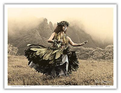 Skirt Hawaiian Hula Dancer Houghton Aloha Oahu Vintage Art Poster Print