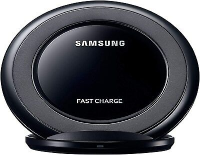 Samsung Black Wireless Quick Qi Charger works with Galaxy S9 S10 S20 Plus Ultra