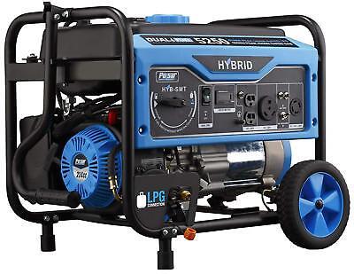 Pulsar 5250-watt Portable Hybrid Dual Fuel Gas Powered Generator With Wheel Kit
