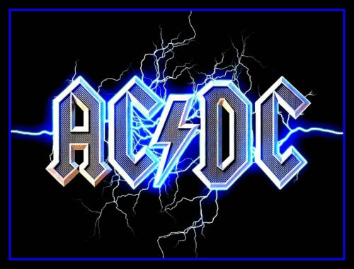 """4.5"""" AC/DC Thunder glossy vinyl sticker. Heavy Metal decal for guitar, laptop."""