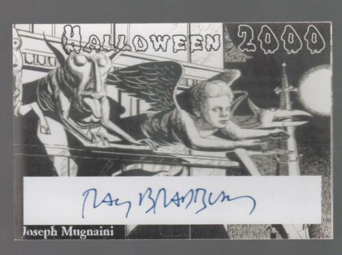 RAY BRADBURY SIGNED HALLOWEEN 2000 BOOKPLATE