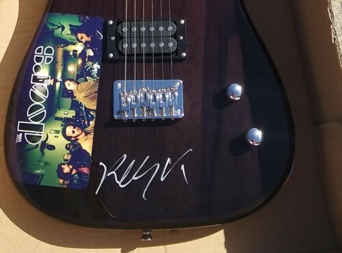 THE DOORS Robby Krieger SIGNED Electric Guitar LIGHT MY FIRE PROOF
