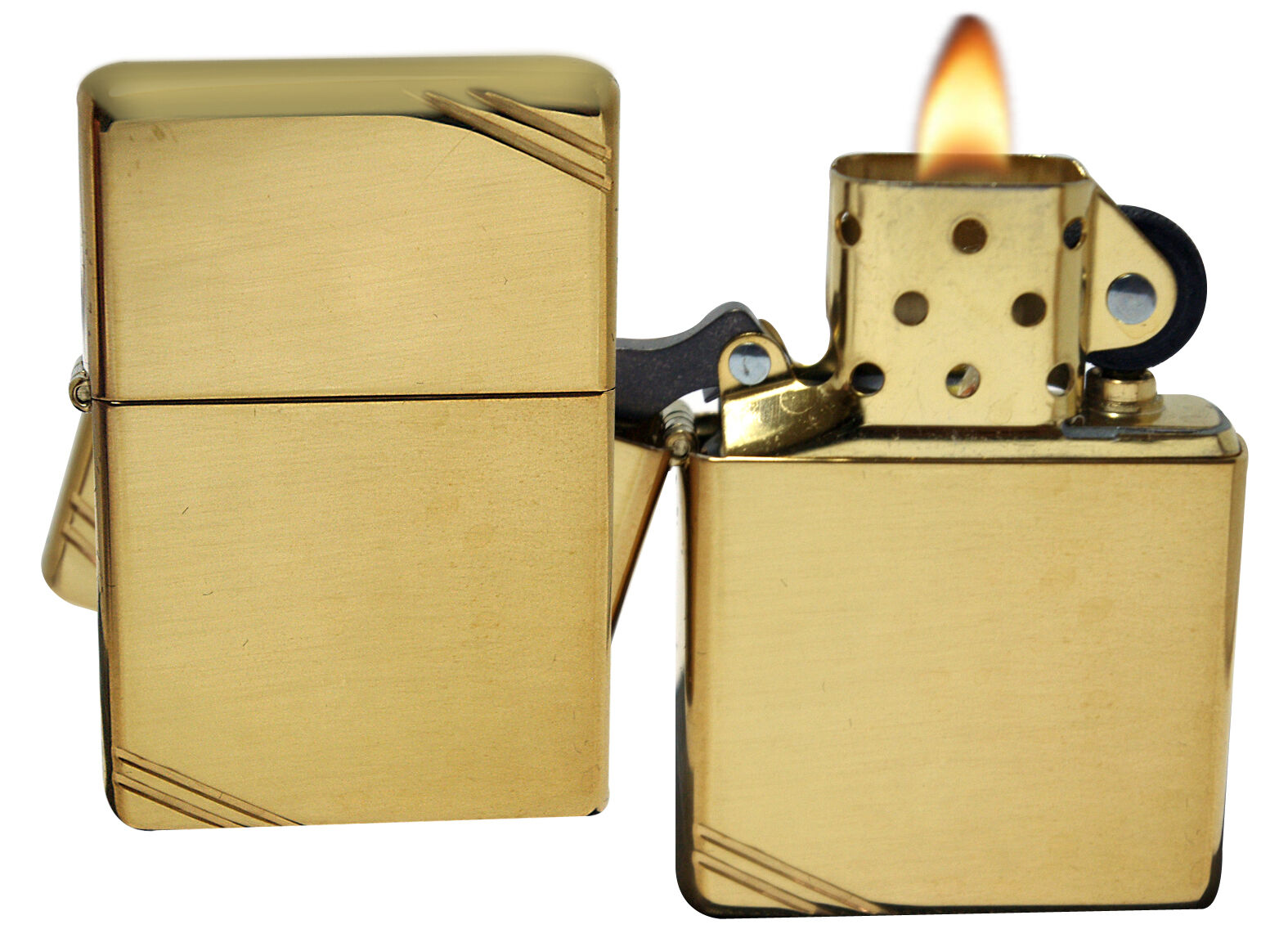 Купить Zippo - Zippo Lighter 270 Vintage 1937 With Slashes High Polish Brass Windproof NEW