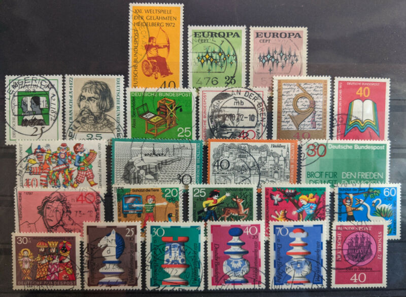 Germany 1972 Complete Year Set Used