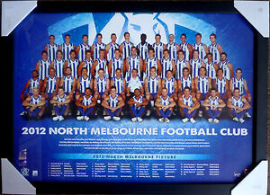 2012-NORTH-MELBOURNE-FOOTBALL-CLUB-TEAM-AFL-Kangaroos-official-posters-framed
