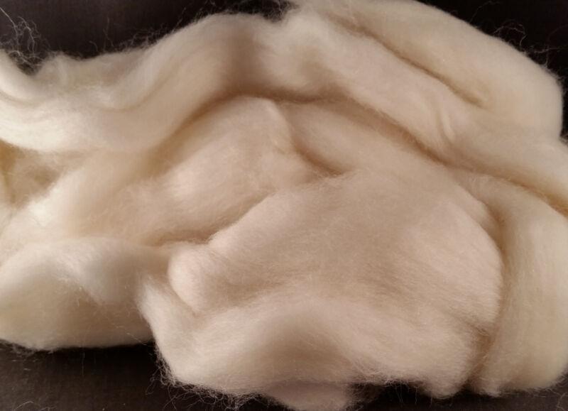 CRAZY Yak Roving 100% White 15 microns soft combed top spin 1 oz Fiber fibre