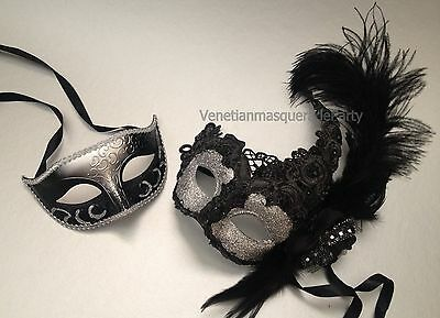 Man and woman set mask Wedding dance birthday prom Party Couple Masquerade mask (Celebrity Mask)
