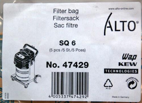 Nilfisk Alto Vacuum Filter Bags SQ6 47429 Lot of 5 bags