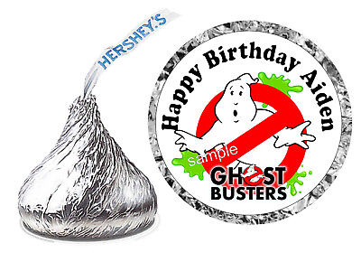 108 GHOSTBUSTERS GHOST BUSTERS BIRTHDAY PARTY FAVORS HERSHEY KISS KISSES LABELS](Party Ghost)