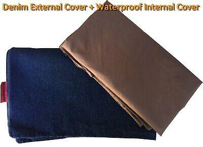 DIY Durable Denim Waterproof Pet Dog Bed Cover Duvet case Small Medium to Large