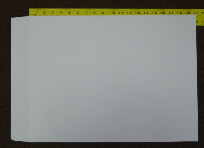 """15"""" by 20"""" Jumbo WHITE ungummed envelopes. """"Buy it now"""" is for a quantity of 50."""