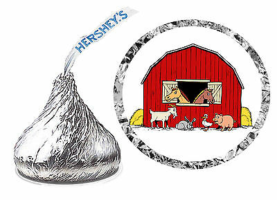 216 BARN FARM COUNTRY BIRTHDAY PARTY FAVORS HERSHEY KISS LABELS