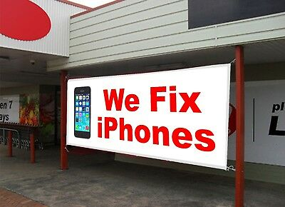 We Fix Iphones Retail Store Business Advertising Repair Banner Sign Flag 2 Sizes